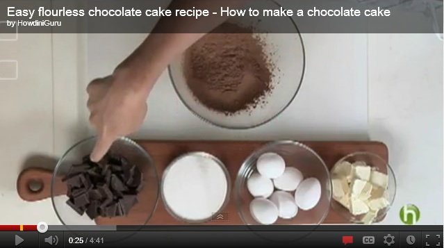 Flourless Homemade Chocolate Cake Recipes