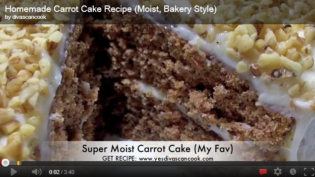 homemade carrot cake recipe Homemade Carrot Cake Recipe Using Coconuts and Fresh Carrots