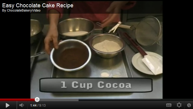 Dark and Yummy Plain Chocolate Cake Recipe